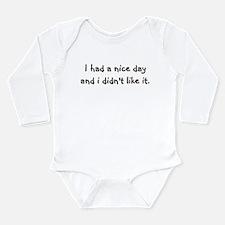 Nice Day Long Sleeve Infant Bodysuit