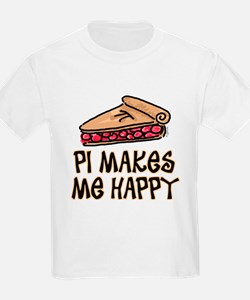 PI Makes Me Happy Kids T-Shirt