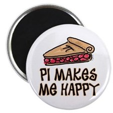 PI Makes Me Happy Magnet