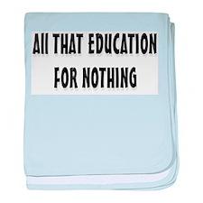 Education baby blanket
