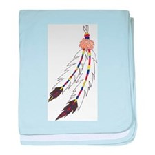 Feather baby blanket