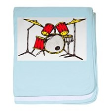 Drum Set baby blanket