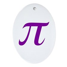 Purple Pi Ornament (Oval)