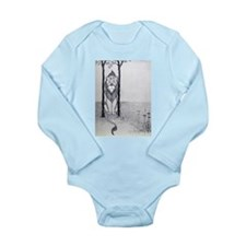 Cowardly Lion Long Sleeve Infant Bodysuit