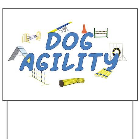 Dog Agility Yard Sign