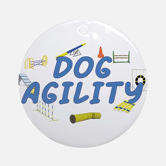 Dog Agility Ornament (Round)