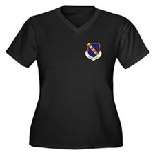 42nd Bomb Wing Women's Plus Size V-Neck T (Dark)