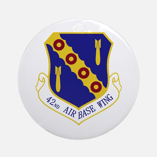 42nd Air Base Wing Ornament (Round)