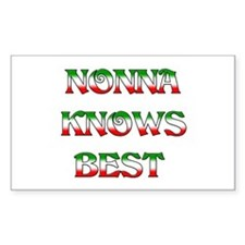 Nonna Knows Best Rectangle Decal