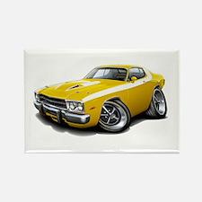 Roadrunner Yellow-White Car Rectangle Magnet (10 p