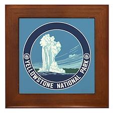 Yellowstone Travel Souvenir Framed Tile