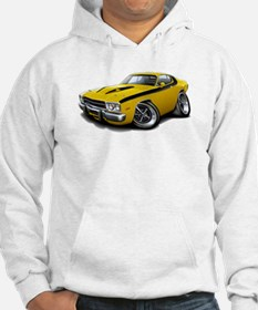 Roadrunner Yellow-Black Car Hoodie