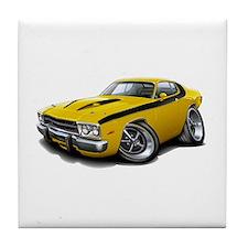 Roadrunner Yellow-Black Car Tile Coaster