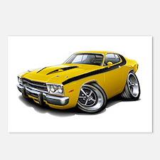 Roadrunner Yellow-Black Car Postcards (Package of