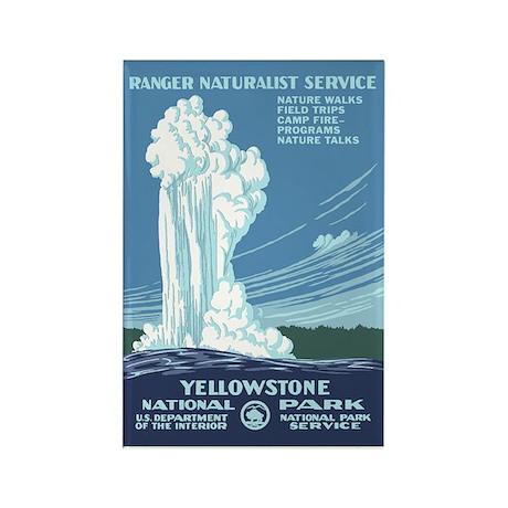 Yellowstone Travel Souvenir Rectangle Magnet