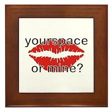 Your Space or Mine  Framed Tile