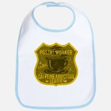 Postal Worker Caffeine Addiction Bib