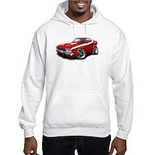 Roadrunner Red-White Car Hoodie