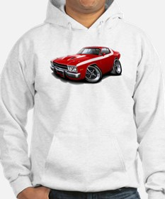 Roadrunner Red-White Car Hoodie
