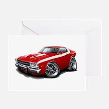 Roadrunner Red-White Car Greeting Card