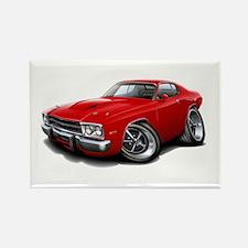 Roadrunner Red Car Rectangle Magnet (10 pack)
