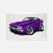 Roadrunner Purple-Black Car Rectangle Magnet (10 p