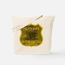 Police Dept Caffeine Addiction Tote Bag
