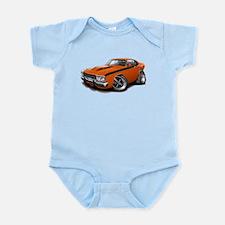 Roadrunner Orange-Black Car Infant Bodysuit