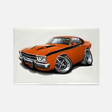 Roadrunner Orange-Black Car Rectangle Magnet (10 p