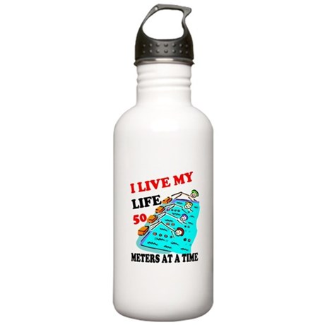 Fifty Meters At a Time Stainless Water Bottle 1.0L