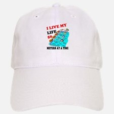 Fifty Meters At a Time Baseball Baseball Cap