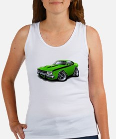 Roadrunner Lime-Black Car Women's Tank Top