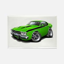 Roadrunner Lime-Black Car Rectangle Magnet (10 pac