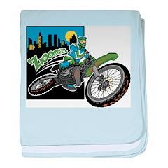 Zooom - Dirt Bike baby blanket