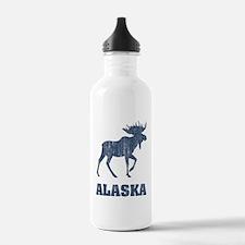 Retro Alaska Moose Sports Water Bottle