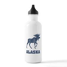 Retro Alaska Moose Water Bottle
