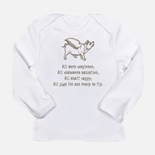 Pigs Ready to Fly Long Sleeve Infant T-Shirt
