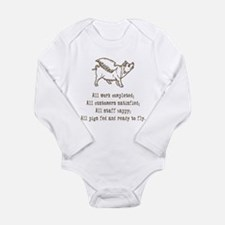 Pigs Ready to Fly Long Sleeve Infant Bodysuit