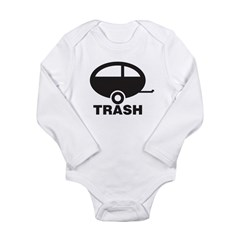 Trailor Trash Long Sleeve Infant Bodysuit
