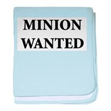 Minion Wanted baby blanket