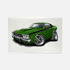 Roadrunner Green-Black Car Rectangle Magnet (10 pa