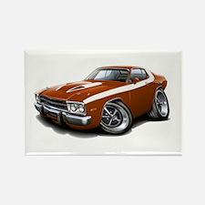 Roadrunner Bronze-White Car Rectangle Magnet (10 p