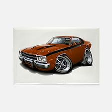 Roadrunner Bronze-Black Car Rectangle Magnet (10 p
