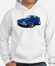 Roadrunner Blue-Black Car Hoodie
