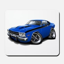 Roadrunner Blue-Black Car Mousepad