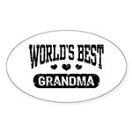 World's Best Grandma Sticker (Oval)