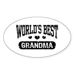 World's Best Grandma Decal