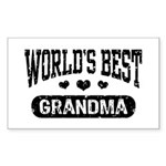 World's Best Grandma Sticker (Rectangle)