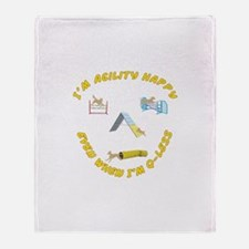 Agility Happy Throw Blanket