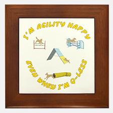 Agility Happy Framed Tile
